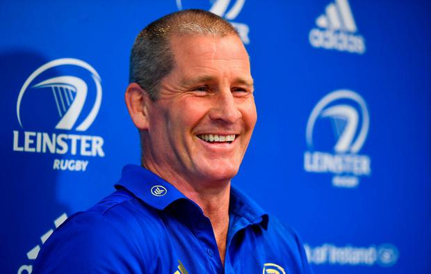 Senior coach Stuart Lancaster during a Leinster Rugby press conference at Leinster Rugby Headquarters in UCD, Dublin. Photo: Ramsey Cardy/Sportsfile