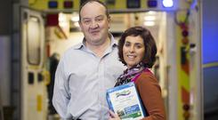 Critical Healthcare founders Seamus Reilly and Dr Anne Cusack