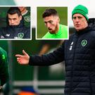Mick McCarthy and (inset) Coleman and Doherty