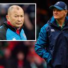 Joe Schmidt and (inset) Eddie Jones