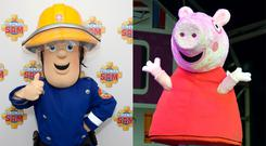 Fireman Sam and Peppa Pig have been accused of sexism (David Parry/PA and John Stillwell/PA)