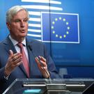 European Union's chief Brexit negotiator Michel Barnier holds a news conference after a General Affairs Council on Article 50 in Brussels, Belgium March 19, 2019. REUTERS/Yves Herman