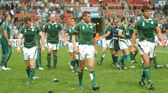 Sean Hartnett claims that he was brought in to investigate the source of leaks after Ireland's exit from the 2007 Rugby World Cup