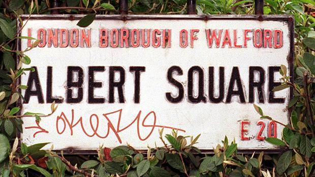 A sign for Albert Square (PA)