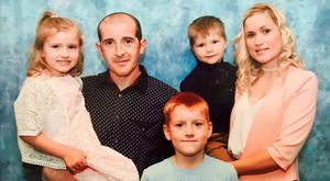 Ruth Maguire and family. Partner James Griffin, son Tyler (10), daughter Lydia (6) and son Oliver (5)