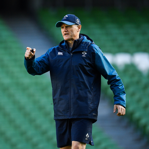 Head coach Joe Schmidt during an Ireland rugby open training session at the Aviva Stadium in Dublin. Photo by Seb Daly/Sportsfile