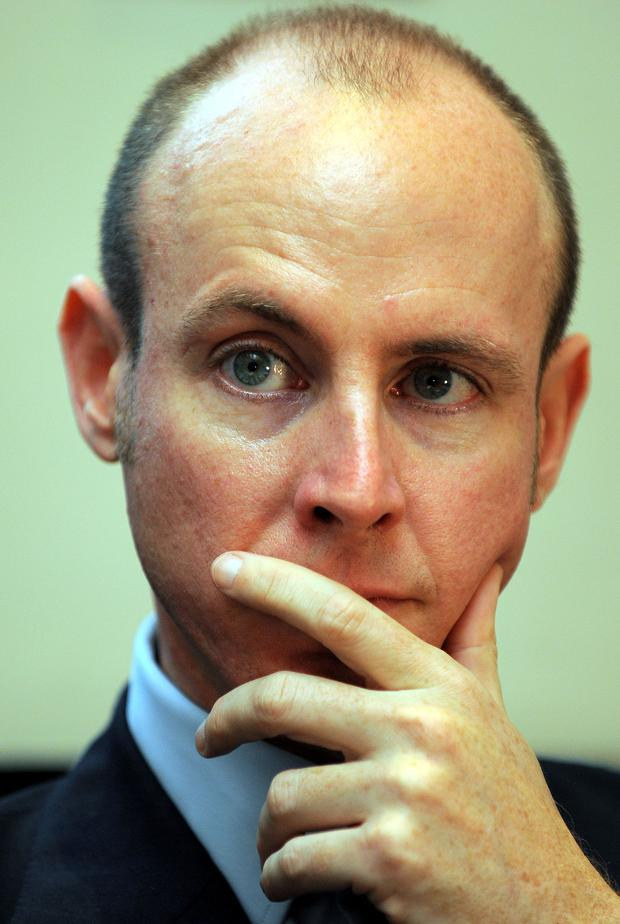 Daniel Hannan, Member of the European Parliament, representing South East England for the Conservative Party looks on during a fringe meeting on the second day of the Conservative Party Conference in Manchester, north-west England on October 6, 2009. ANDREW YATES/AFP/Getty Images)