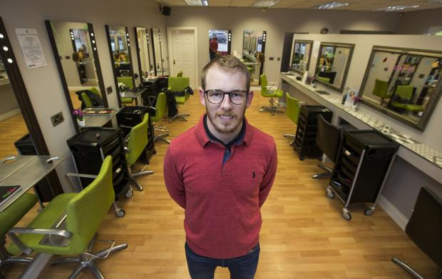 Style Bar Hairdresser, David Finn pictured at his Portlaoise, Co. Laois premises yesterday. PIC COLIN O'RIORDAN