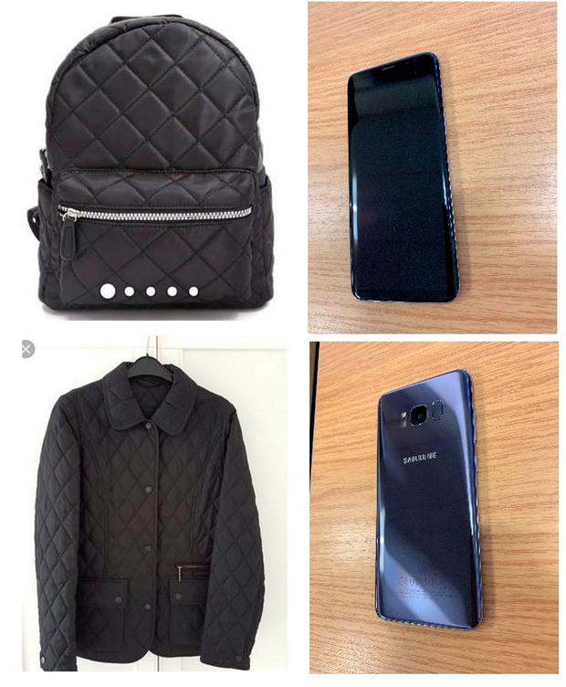 Clothing and accessories belonging to Leah Croucher, after police have issued a fresh appeal in the search for the missing teenager Credit: Thames Valley Police/PA Wire
