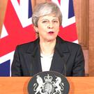 A video grab of Prime Minister Theresa May making a statement about Brexit in Downing Street, London. Pic: PA Wire