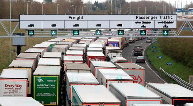 If there is a no-deal Brexit, Ireland is very likely to suffer more than the UK economically, given its much greater dependence on trade, both with the UK and with the continent that moves through the British 'land bridge'. Photo: PA