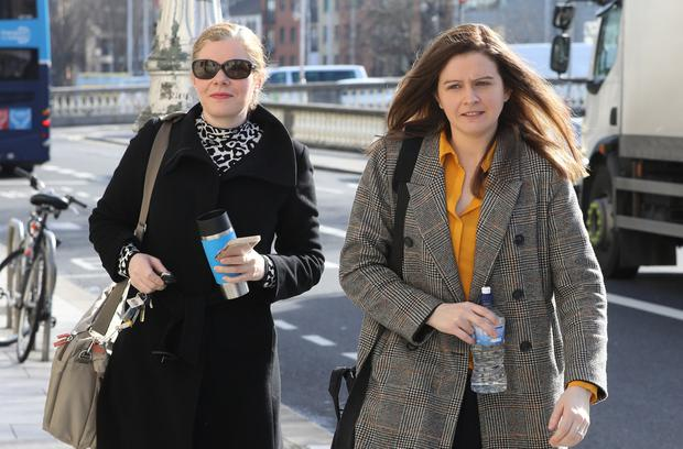 (L-R) Colette and Brenda Quinn pictured at the Four Courts yesterday. Photo: Collins Courts