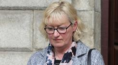 Concepta Anderson pictured leaving the Four Courts after her High Court action. Photo: Collins Courts