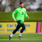 Matt Doherty during a Republic of Ireland training session. Photo: Sportsfile
