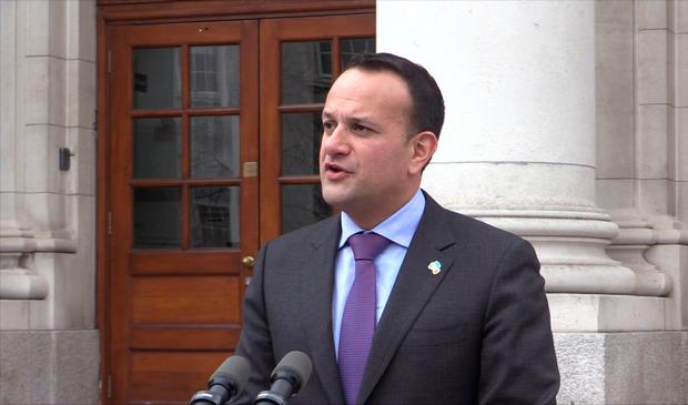 Taoiseach Leo Varadkar discussing Brexit at Government Buildings in Dublin. Photo: PA