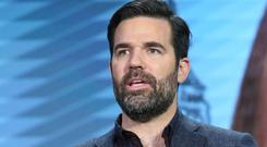 Rob Delaney speaks onstage during the Catastrophe panel as part of the Amazon portion of the 2016 Television Critics Association Winter Tour at Langham Hotel on January 11, 2016 in Pasadena, California. (Photo by Frederick M. Brown/Getty Images)
