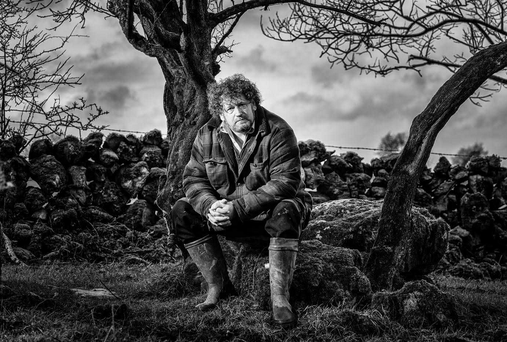 Pat Noone on his farm in Galway. Photo: Leo Dolan photography