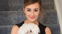 Laura Brennan of Hillview, Clarecastle, Co Clare with Bailey. Photograph Liam Burke Press 22