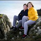 Eileen Rushe with her son Seamus (12). Photo: David Conachy