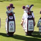Team USA golf bags (Adam Davy/AP)