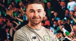 Seani Maguire is hoping to stake his claim for the number nine shirt when Ireland take on Gibraltar tomorrow. Photo: Stephen McCarthy/Sportsfile