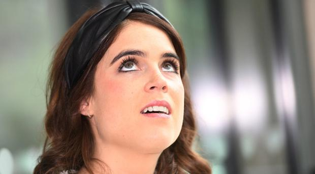 Princess Eugenie visits the Royal National Orthopaedic Hospital to open the new Stanmore Building, in London, Britain March 21, 2019. David Mirzoeff/ Pool via REUTERS