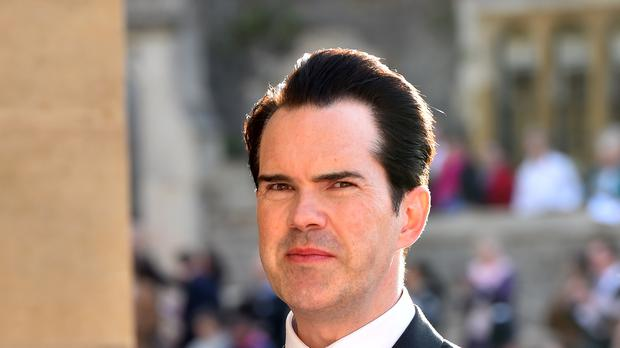 Jimmy Carr bravely attempted the dance. (Matt Crossick/PA)