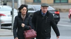 Patrick Quirke with his wife Imelda outside court yesterday. Picture: Collins