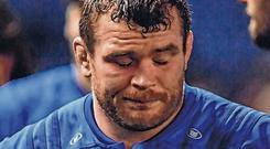 Leinster's Jack McGrath following their defeat. Photo: Ramsey Cardy/Sportsfile