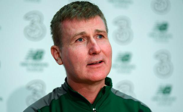 Republic of Ireland U21 manager Stephen Kenny during a press conference at the FAI National Training Centre in Abbotstown, Dublin. Photo by Stephen McCarthy/Sportsfile