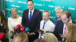 An Taoiseach Leo Varadkar with European Parliament election candidates. Picture: Patrick Browne