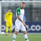 James McClean of Republic of Ireland reacts during the 1-0 win in Gibraltar. Photo by Stephen McCarthy/Sportsfile