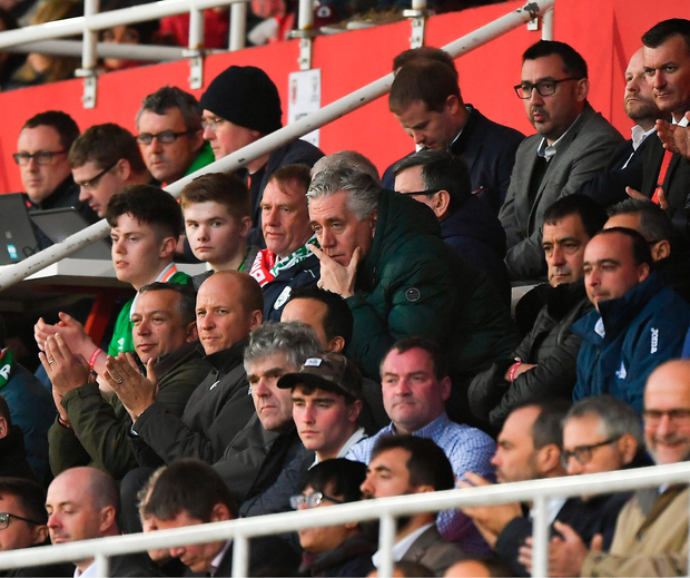 John Delaney at the match between Gibraltar and Republic of Ireland last night. Photo: Seb Daly/Sportsfile