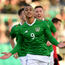 Adam Idah of Republic of Ireland celebrates after scoring his side's first goal during the UEFA European U21 Championship Qualifier Group 1 match between Republic of Ireland and Luxembourg in Tallaght Stadium in Dublin. Photo by Eóin Noonan/Sportsfile