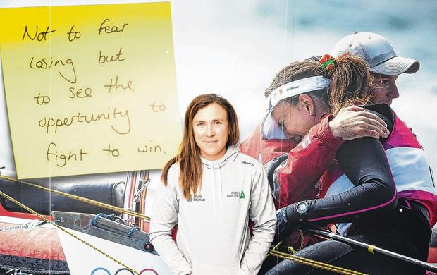 Olympic silver medallist Annalise Murphy at the launch of the new Irish Sailing Performance HQ in Dun Laoghaire, Co Dublin last week. Photo: David Branigan/Oceansport
