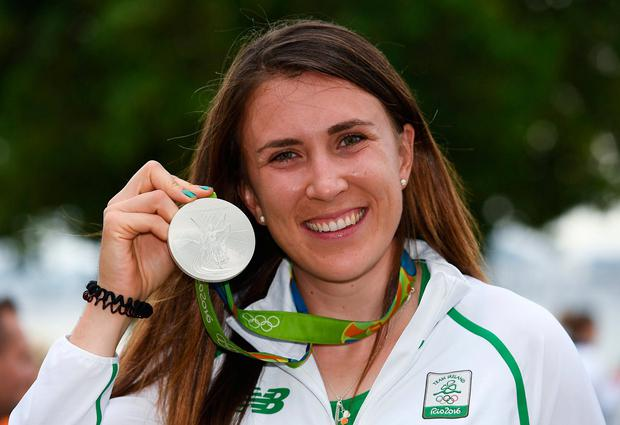 Murphy with her silver medal from the Rio Olympics. Photo: Brendan Moran/Sportsfile