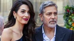George and Amal Clooney attend the PeopleÄôs Postcode Lottery Charity Gala at McEwan Hall on March 15, 2019 in Edinburgh, Scotland