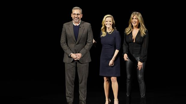 Steve Carell, Reese Witherspoon and Jennifer Aniston (AP)