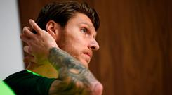 Jeff Hendrick pictured during a Republic of Ireland press conference at FAI NTC, Abbotstown, Dublin. Photo: Stephen McCarthy/Sportsfile