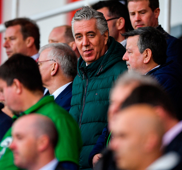 Former FAI chief executive John Delaney at Aviva Stadium. Photo: Seb Daly/Sportsfile