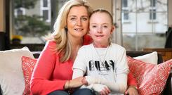 Claudia Scanlon pictured with her Mum Liz at their home in Terenure. Picture Credit:Frank Mc Grath
