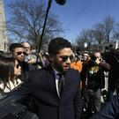 Actor Jussie Smollett leaves Cook County Court after his charges were dropped (Paul Beaty/AP)