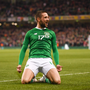Conor Hourihane of Republic of Ireland celebrates after scoring his side's first goal during the UEFA EURO2020 Group D qualifying match between Republic of Ireland and Georgia at the Aviva Stadium, Lansdowne Road, in Dublin. Photo by Stephen McCarthy/Sportsfile