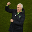 Republic of Ireland manager Mick McCarthy celebrates following the UEFA EURO2020 Group D qualifying match between Republic of Ireland and Georgia at the Aviva Stadium, Lansdowne Road, in Dublin. Photo by Eóin Noonan/Sportsfile