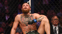 Down and out: Conor McGregor says he has retired from MMA. Photo: Stephen McCarthy/Sportsfile