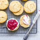 Indy Power's gluten-free scones with chia jam