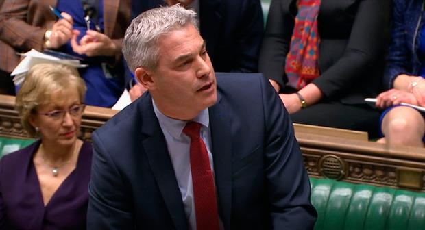 Brexit Secretary Stephen Barclay speaking in the House of Commons after MPs rejected all eight of the indicative votes chosen by Speaker John Bercow on Wednesday evening. Photo: PA Wire