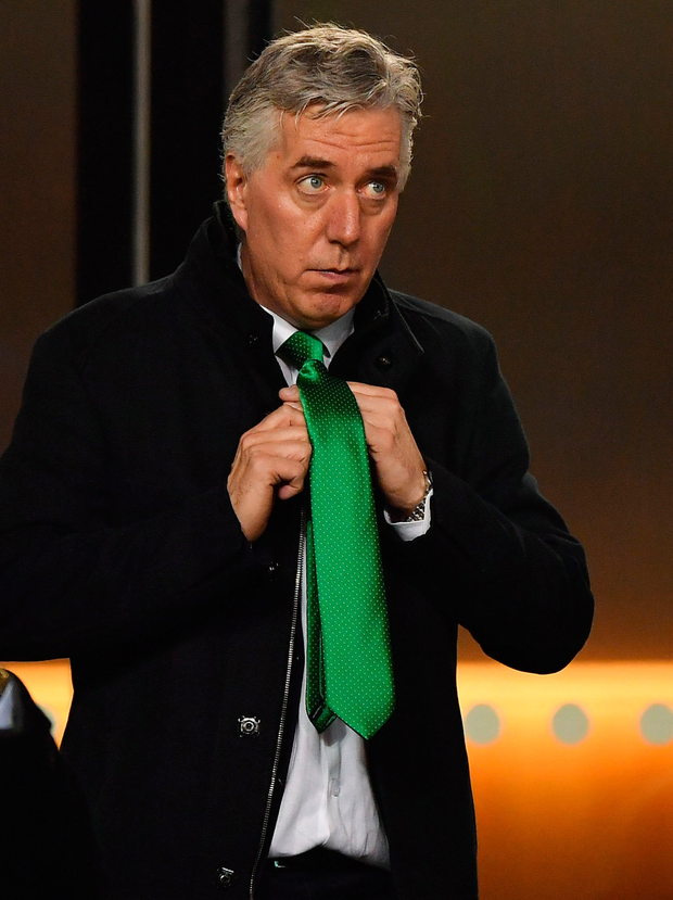 Controversy: John Delaney, now executive vice-president of the FAI, at the match against Georgia on Tuesday. Picture: Sportsfile