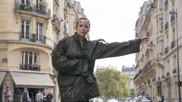 Villanelle, played by Jodie Comer, in season two of Killing Eve (Aimee Spinks/BBC America)