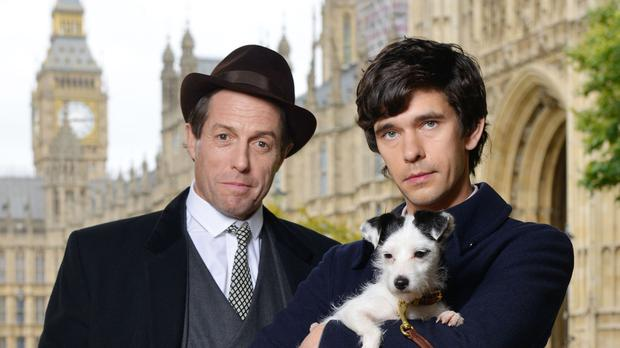 Hugh Grant as Jeremy Thorpe and Ben Whishaw as Norman Scott in BBC One's A Very English Scandal (Kieron McCarron/BBC/PA)